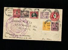 Zeppelin Sieger 28D 1929 Round the World Flight USA Post with Scott 547 franking