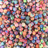 500pcs 6mm mixed flowers polymer fimo clay round diy findings loose beads''