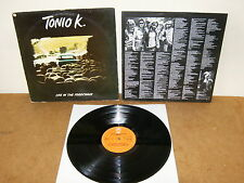 TONIO K : LIFE IN THE FOODCHAIN - HOLLAND LP 1979 with INNER - EPIC EPC 83607