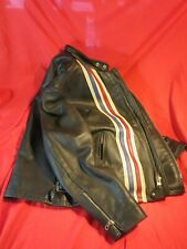 SCHOTT LEATHER JACKET ~ EASY RIDER PERFECTO ~ FLAGS PATRIOTIC BIKER ~ 44 SIZE