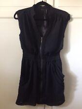 Women's Guess Black Zip Dress