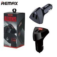 Remax USB Socket 2 Port 5V 3.4A Smart IC Protection Universal Car Charger