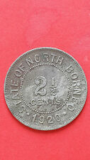 1920H British North Borneo 2 1/2 Cents