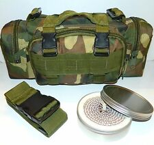 Molle Camo Survival Camping Hunting Bug Out Bag Pack & 3Hr ScrewTop Buddy Burner