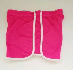 Justice Girl 14 Bright Pink Elastic Waist  Athletic Shorts