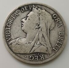 1895 Solid Silver Half Crown Coin Old V Antique Victorian Queen Victoria Royalty