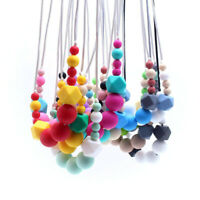 BPA Free Silicone Teether Beads Baby Chew Sensory Teething Necklace Jewelry Toys