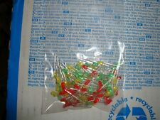 100pcs 3mm LEDs red green yellow superbright brand new $
