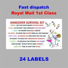 HANGOVER SURVIVAL KIT Novelty Bride To Be Party Night Drunk Stag Wedding Hen H07
