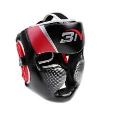 PU Detachable Bar Headgear Boxing Helmet Martial Arts Gear MMA Protector Red