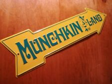 MUNCHKINLAND SIGN Wizard of Oz Munchkin on Right Pointing Arrow Decor Sign - NEW