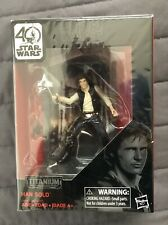 Han Solo Action Figure Star Wars Titanium Black Series 40th Anniversary Diecast