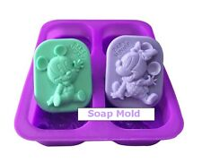 Mickey Mouse Minnie Silicone Mold Soap Cake Chocolate Cookie Candle Food Mould