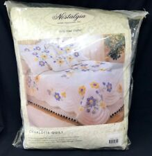 Nostalgia Home Fashions Handmade Twin Quilt 68 x 86 Charlotte Blue/Yellow Floral
