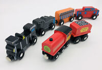 Melissa & Doug Train Lot Wooden Magnetic Coach Express Caboose Engine Thomas Com