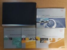 GENUINE AUDI TT COUPE ROADSTER HANDBOOK MANUAL WALLET 1999-2000 PACK F-552