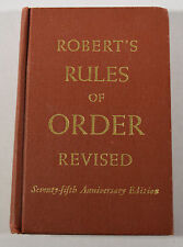 1951 Book Robert's Rules of Order Revised 75th Anniversary Edition Pocket Manual