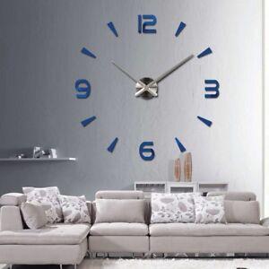 Wall Clock Quartz Watch Modern Design Large Decorative Clocks Acrylic Stickers