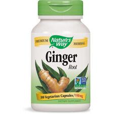 Nature's Way Premium Herbal Ginger Root Dietary Supplement 550 mg - 100 Capsules