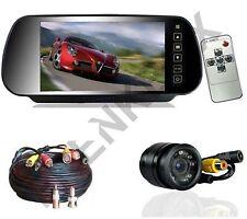 """Kit retromarcia monitor 7"""" specchietto retrovisore telecamera incasso +cavo 10mt"""