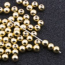 4mm Gold Acrylic Round Faux Pearl Beads Vintage Japanese 120pcs 10304010