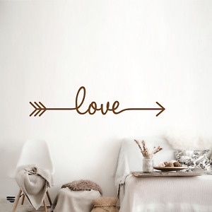 LOVE ARROW Removable Vinyl Wall Mirror Quote Decal Stickers Home Decor Art