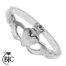 BJC® Childrens Sterling Silver 925 Claddagh Dress Ring Size A - M Brand new