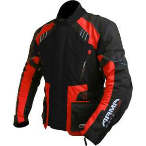 ARMR Moto Kiso 2 Wasserdichte Motorradjacke - Schwarz/Rot