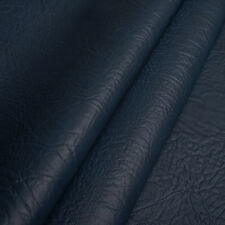 Kunstleder Meterware 1lfm Polsterstoff marmoriert Lederoptik Elefant Blau