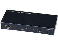4X1 HDMI Switcher w/ Toslink & Digital Coaxial Port (Rev.2) w/ 3D support 5557