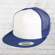 Yupoong Flexfit Classic Trucker Snapback Cap royal blau weiss Truckercap Mütze