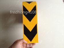 "Yellow&Black Arrow Reflective Self Adhesive Tape Sticker for Garage Way 10cm 4"""