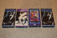STAR WARS & STAR TREK - 4 VHS Cassette Tape LOT! A NEW HOPE EMPIRE STRIKES BACK