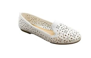 Women's Slip On Ballet Flats Classic Casual Comfort Perforated Loafers Shoes