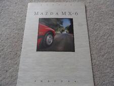 1991 Mazda MX-6 MX6 Sales Brochure