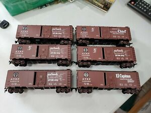 Athearn Santa Fe 40' Box Cars (6 Total)(HO)(Used)