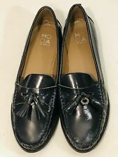 *New* MODA in PELLE Ladies Blue Patent Leather Loafers (Variable Sizes)