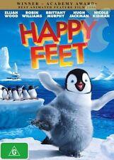 HAPPY FEET-DVD-Voice of Hugh Jackman, Nicole Kidman-Region 4-New AND Sealed