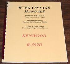W7FG VINTAGE MANUALS KENWOOD R-599D RECEIVER MANUAL