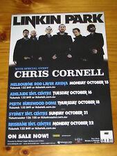 LINKIN PARK - CHRIS CORNELL- 2007 Australia Tour - Laminated Promotional Poster
