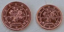 1+2 Euro Cent Litauen 2017 unz