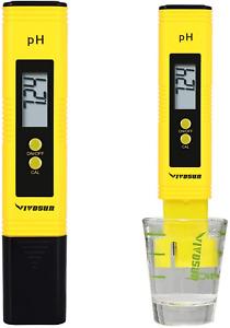 VIVOSUN PH Meter Digital PH Tester Pen for Water Pool Spas Liquid Food Yellow