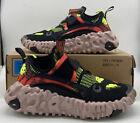 Nike Overreact Flyknit ISPA Black/Hyper Crimson-Volt CD9664-001 Men's Size