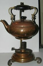 New ListingLanders Frary & Clark Conneticut Arts & Crafts Brass & Copper Teapot / Stand