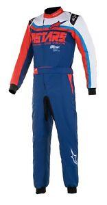 Alpinestars KMX-9 v2 GRAPHIC Kart Suit CIK FIA Level 2 N 2013-1 NEW 2021 BLUE