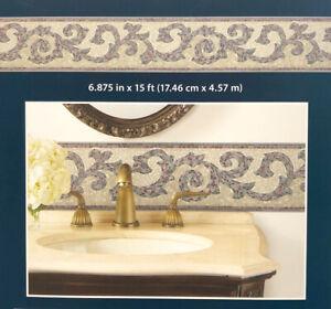 Mosaic Scroll, Wallpaper Border - BVB03443 (17.46cm wide by 4.57m long)
