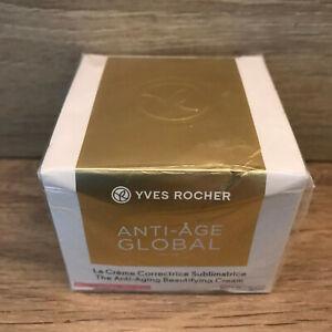 YVES ROCHER ANTI-AGE GLOBAL Crème Correctrice Sublimatrice Jour Peaux Sèche 50ml