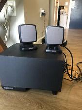 Dell Altec Lansing Computer 2.1 Speakers Model ACS340 w/ Subwoofer Black