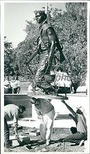 1989 Utah Vietnam Vets Statue Sculptor Clyde Morgan Original News Service Photo