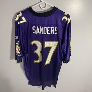 Vintage Reebok Baltimore Ravens Deion Sanders Purple Jersey Men's Large L #37